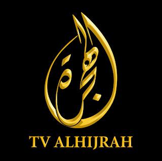 logo stesen tv alhijrah yang warna emas dan hitam