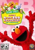 Sesame Street, Elmo's A-To-Zoo Adventure, pc, game, box, art