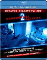 Paranormal Activity 2, blu-ray, box, art