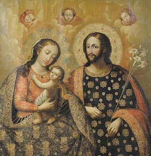 Znalezione obrazy dla zapytania saint joseph and saint Mary old pictures
