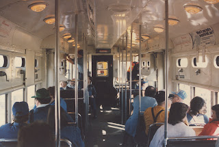eddie 39 s rail fan page interior view of 1950 39 s era cta 6000 series rapid transit car demoted to. Black Bedroom Furniture Sets. Home Design Ideas