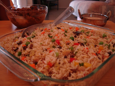 Indo-Chinese Mixed Fried Rice / Mixed Fried Rice