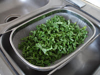 Cleaning Kale