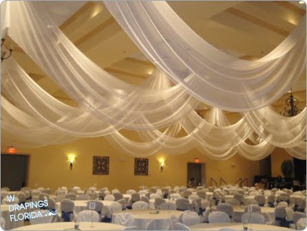 W Drapings Florida: Ceiling Drapings and Wedding Chiffon