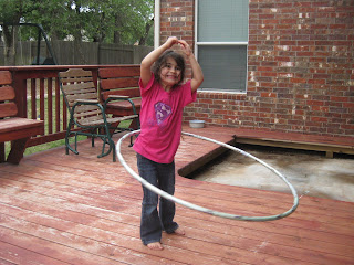 Hulahoop on back porch