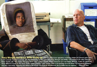 Bruce Willis y Tracy Morgan en la película Cop Out