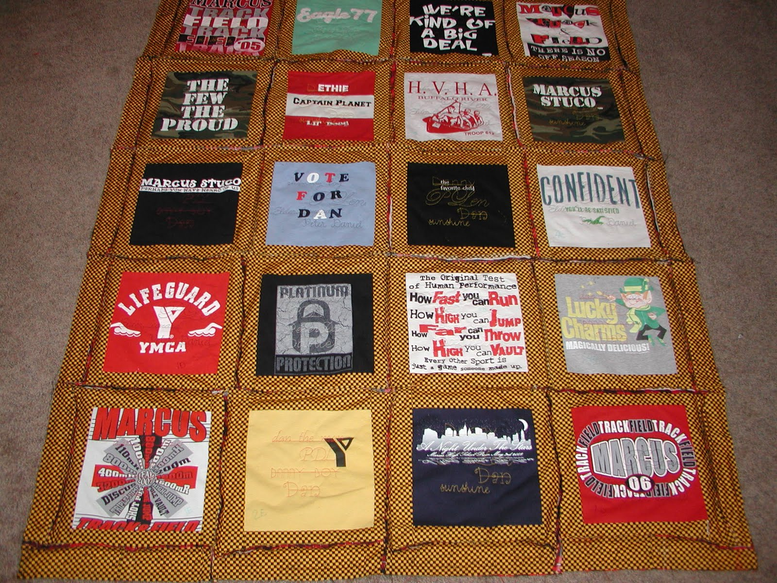 Quilty Pleasures Rag Style T Shirt Quilt Tutorial
