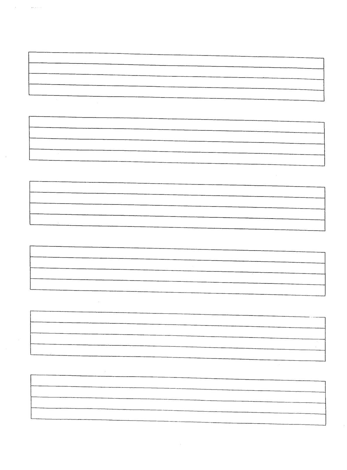 Bass Tab Template Divider Pdf Free Prinatble Blank Staff Paper
