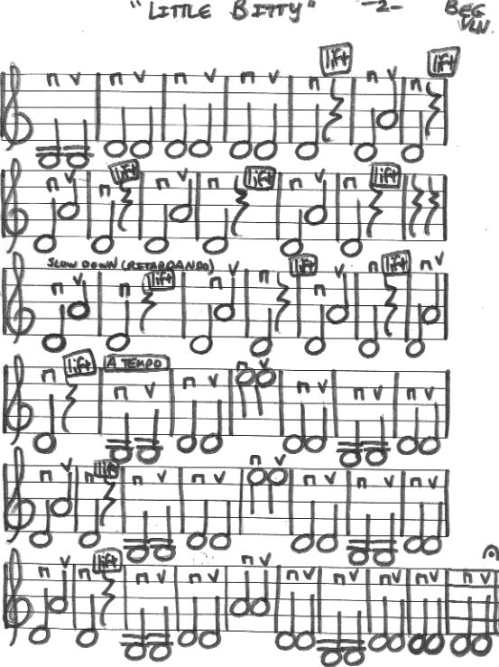 Miss Jacobson's Music: LITTLE BITTY BEGINNING VIOLIN PART