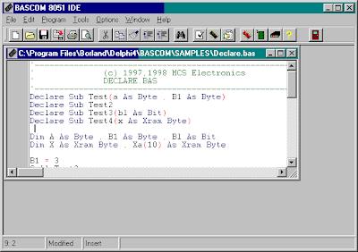 mcu123: BASCOM 8051 Basic Compiler