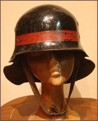 59 Casco de Bombero West-Berlin Museo Colección Militaria Harley Davidson gr.58