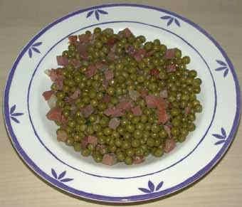 Media hora para cocinar guisantes con jam n for Cocinar guisantes frescos