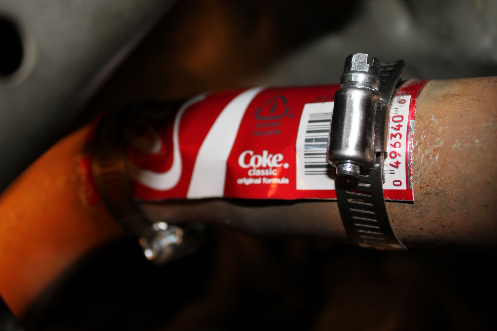 Bryan's blog: Car exhaust pipe patch