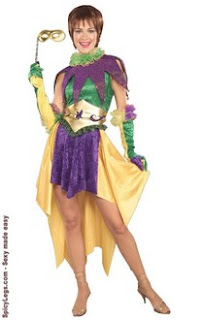 Sexy mardi gras outfit