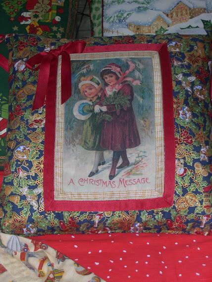 Cuscino Natalizio in stile vittoriano