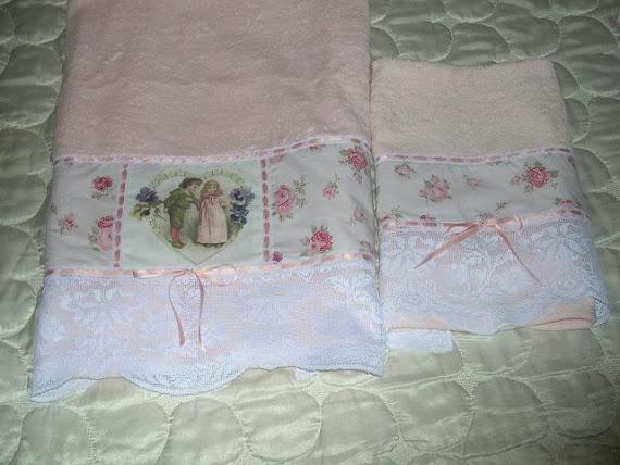 Coppia asciugamani stile inglese