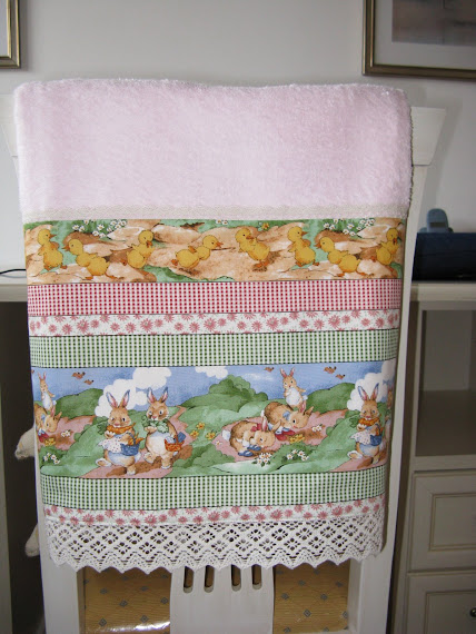 Asciugamano rosa con alto bordo DELIZIOSISSIMO