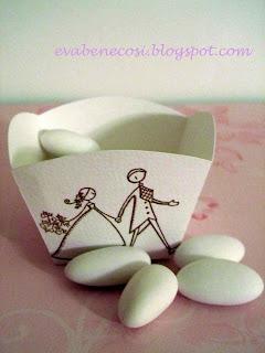1e1189cbe Negli ultimi matrimoni a cui ho partecipato ho notato che al ristorante  spesso viene allestito un tavolo con confetti di ogni gusto, a disposizione  degli ...