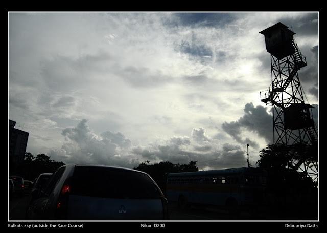 Dark clouds over Calcutta