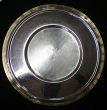Plato de Sitio Acero con borde de bronce