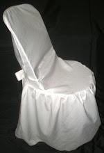 Silla Plástica Negra con Funda Blanca