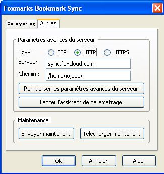 extension FIREFOX : Foxmarks Bookmark Synchroniser