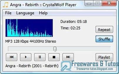 CrystalWolf Audio Player : un nouveau lecteur audio
