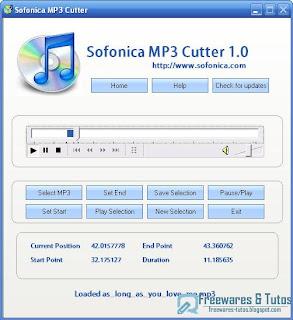 Sofonica mp3 cutter un logiciel pour couper les mp3 freewares tutos - Logiciel couper une video ...