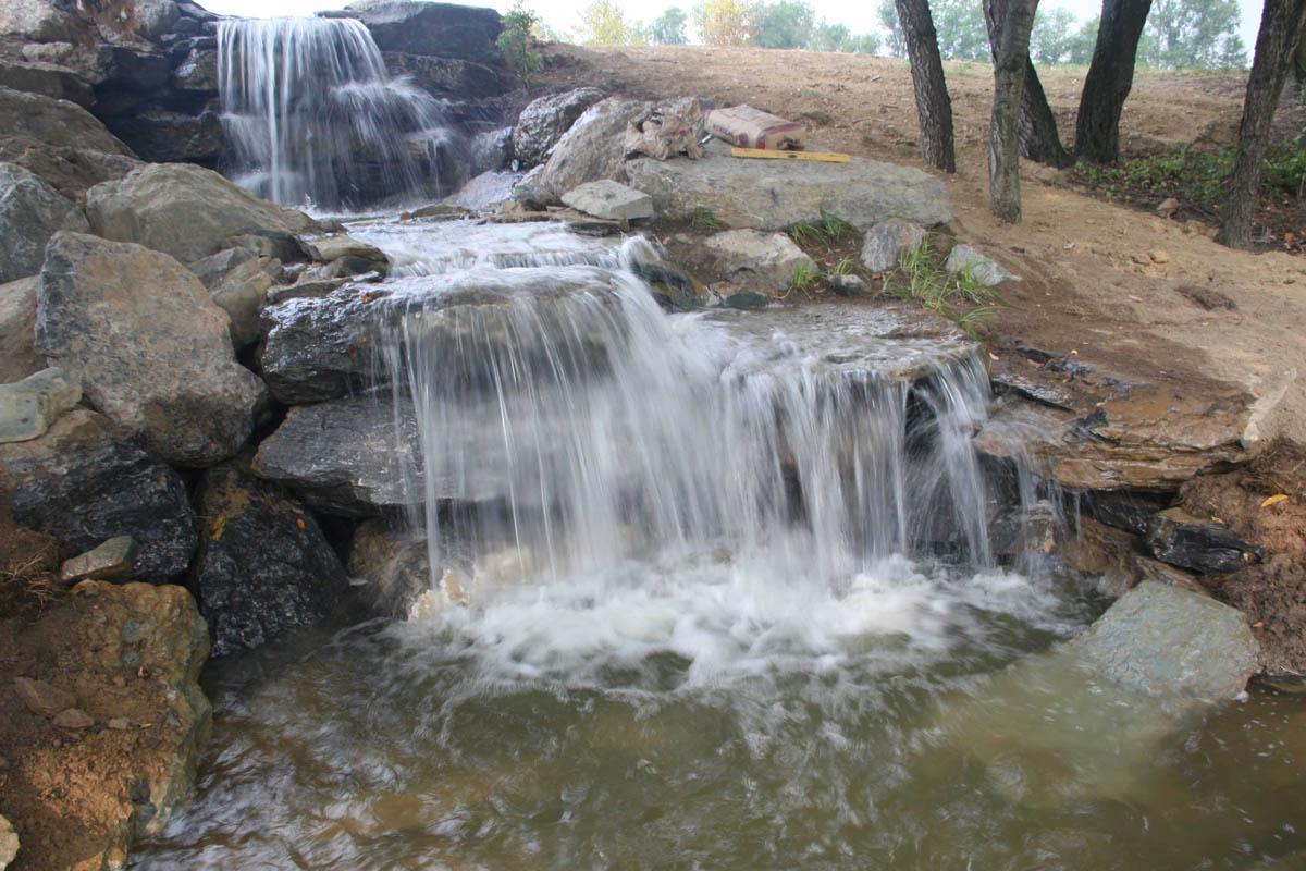 Garden Pond: Garden pond waterfall