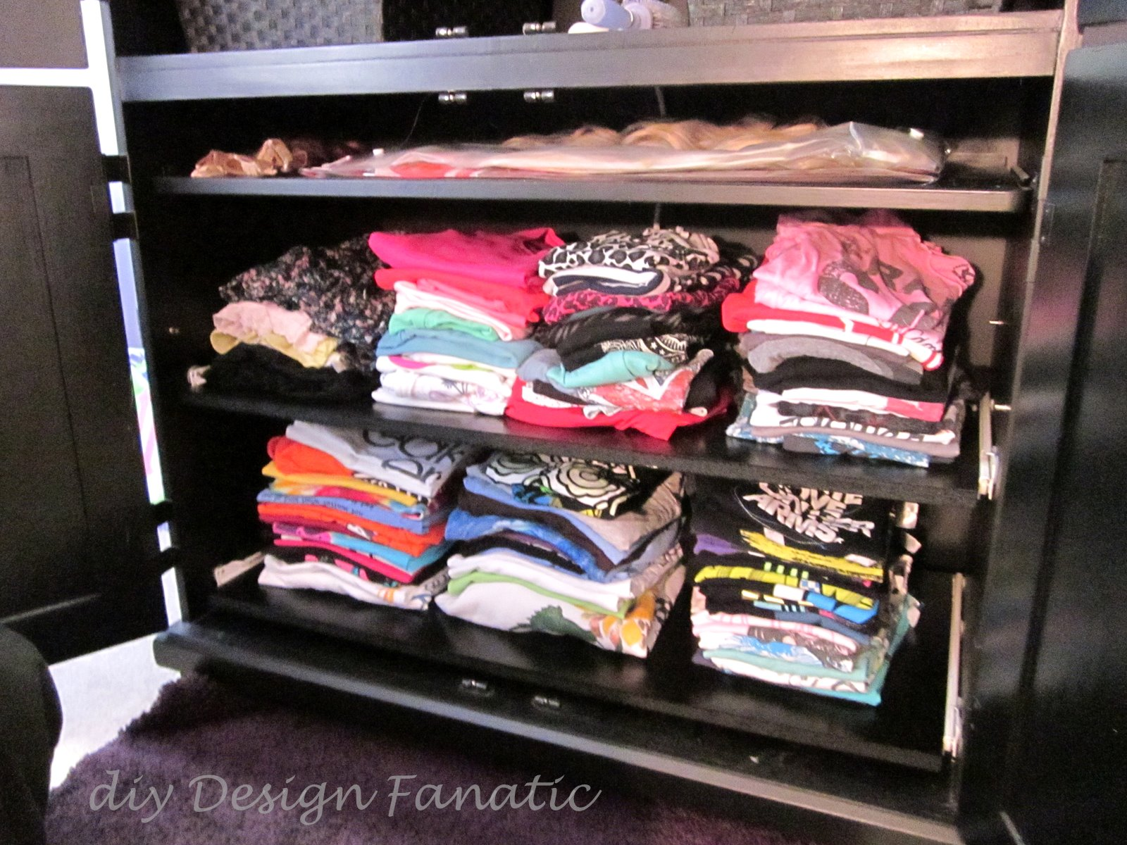 diy Design Fanatic Organized Armoire