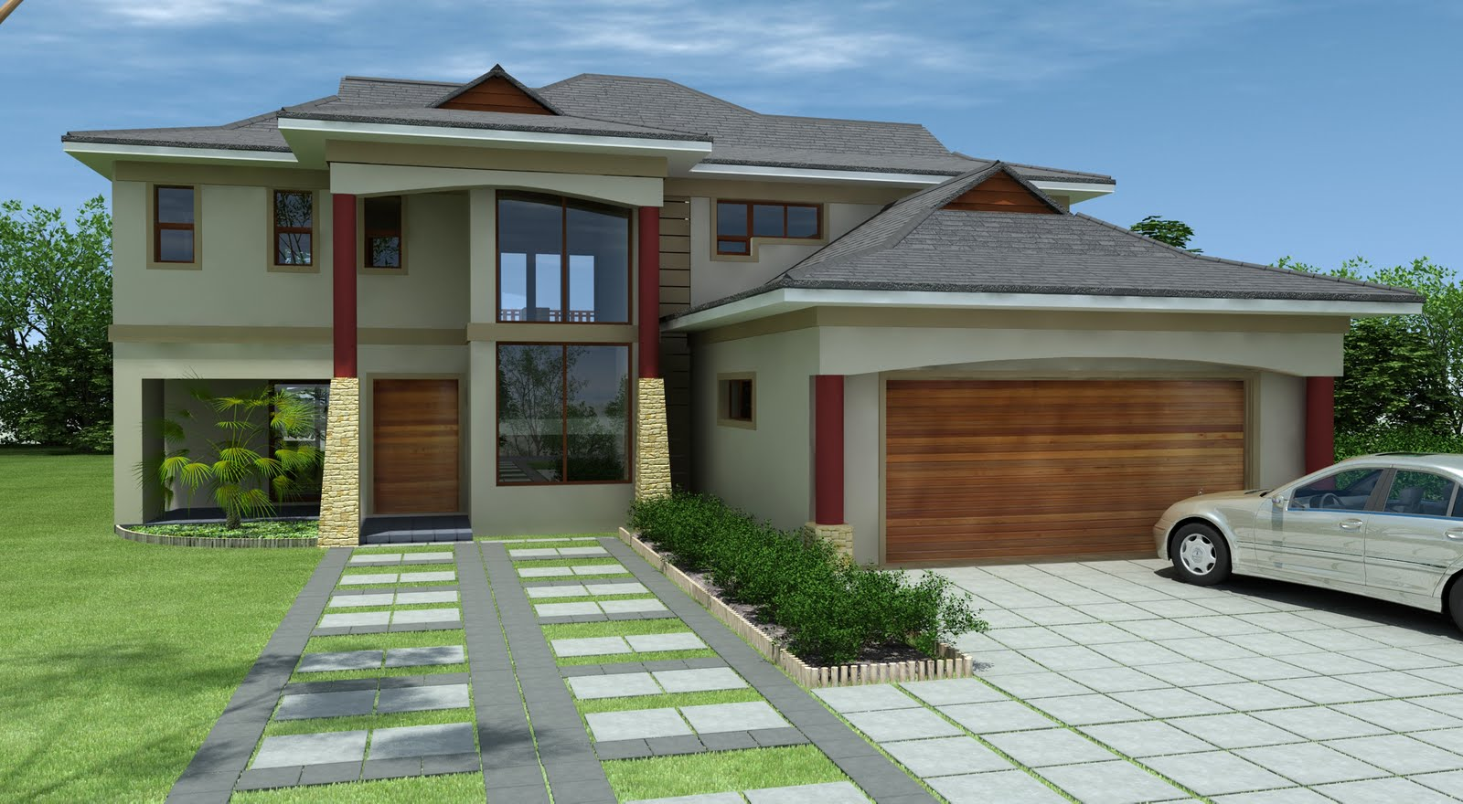 Beautiful house designed in mzansi for Modern estate home plans