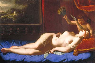 Artemisia Gentileschi, Venus et Cupidon (1625-30)