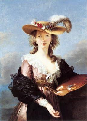 Autoportrait au chapeau, Elisabeth Vigée-Lebrun