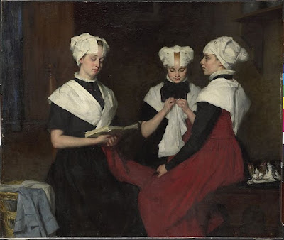 Three Girls from Amsterdam Orphanage (1885), Thérèse Schwartze