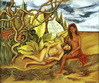 Deux Nus dans la Forêt ou La Terre Elle-Même ou Ma Nourrice et Moi (1939), Frida Kahlo