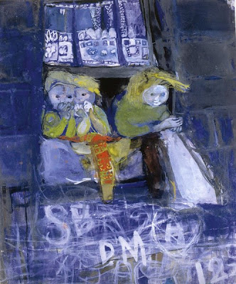 Three Children at a Tenement Window (1961), Joan Eardley