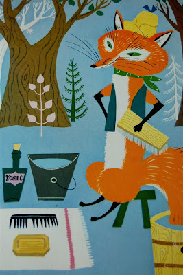 Fox childrens book illustration