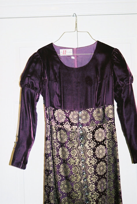 Purple vintage Renaissance dress