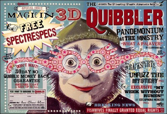 vvb32 reads: Harry Potter and the Half-Blood Prince (2009)Quibbler Printable Cover
