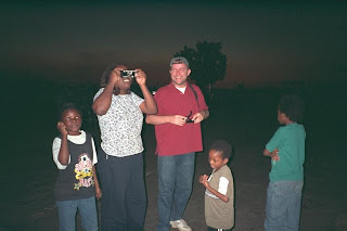 Yours truly at Chisamba during the solar eclipse in Zambia 2001