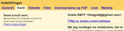 """Trin 2: Under fanebladet """"Konti"""" vælg """"Tilføj en anden e-mail-adresse"""""""