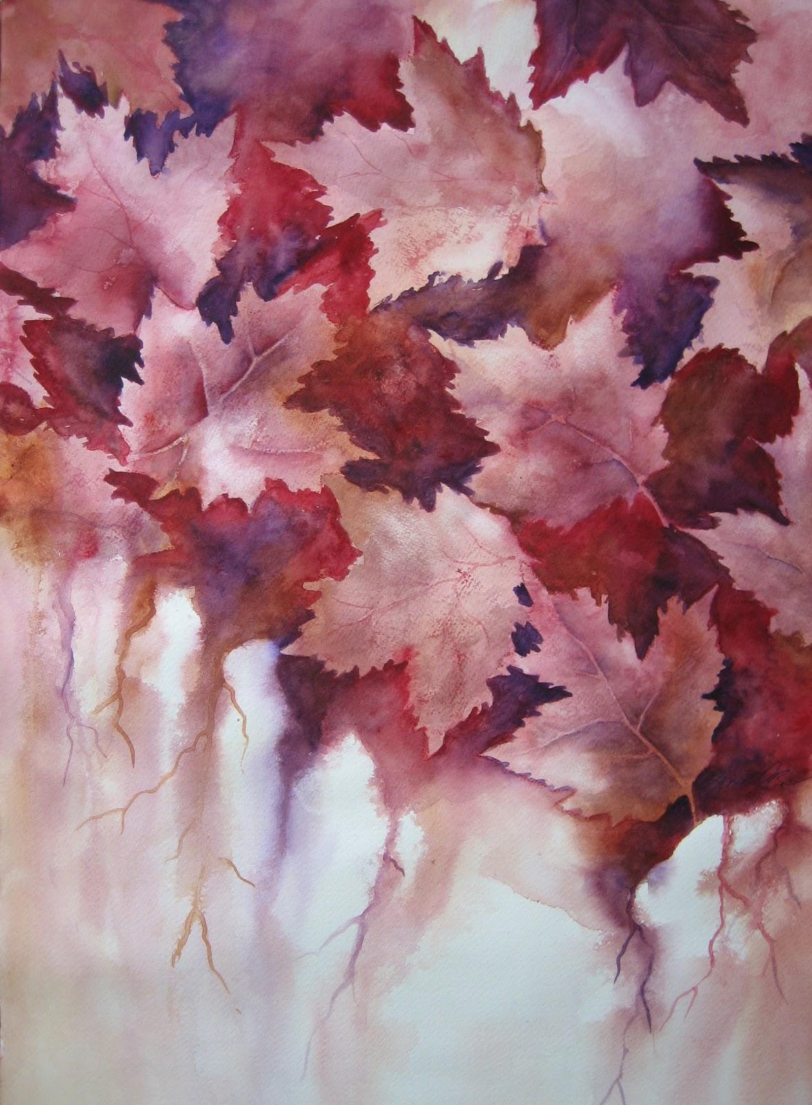 "Watercolor Artists International: ""Autumn Leaves"" original ..."