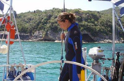 pronta all'immersione