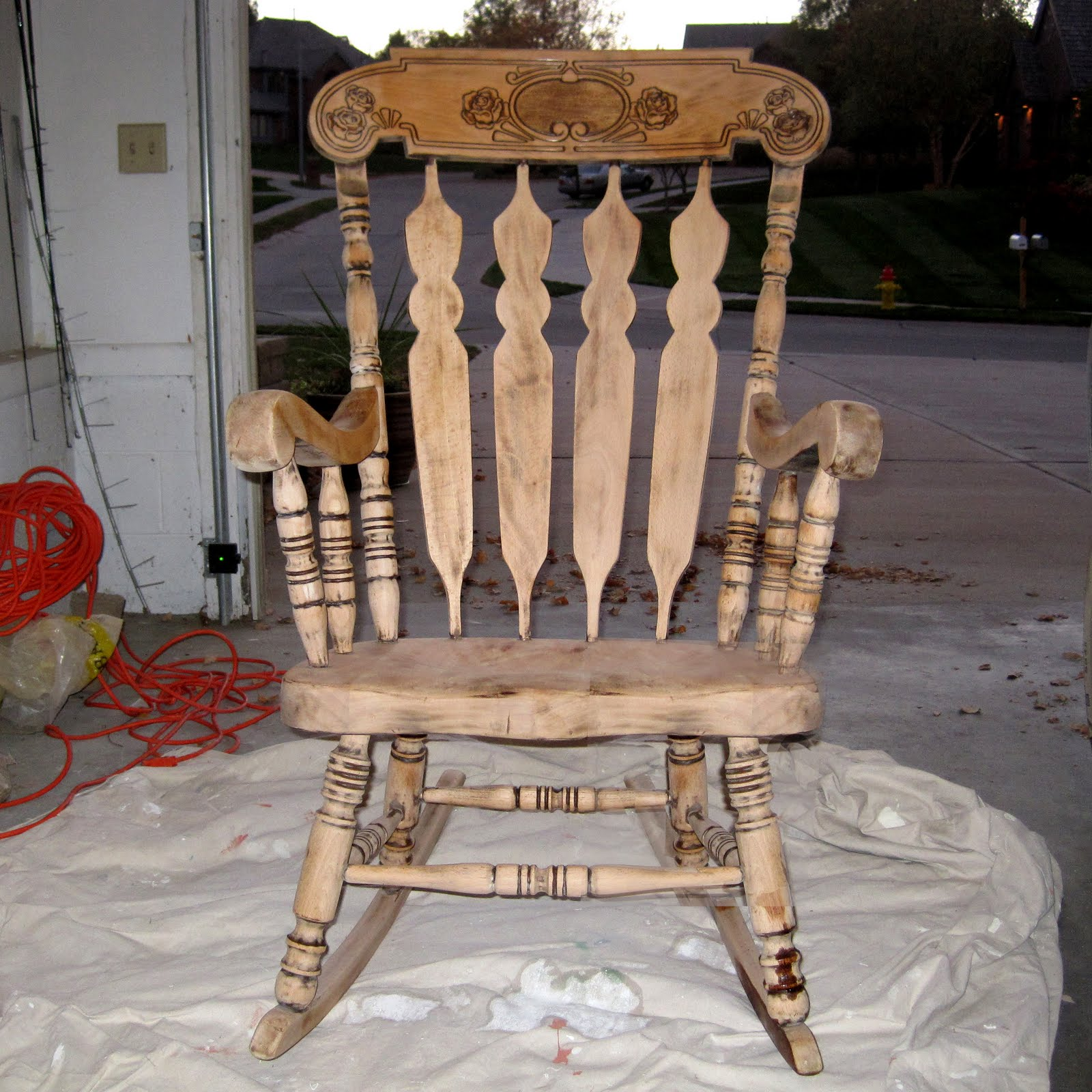 How To Refinish Wood Chairs Foldable Floor Chair Singapore Refinishing A Rocking  Between3sisters