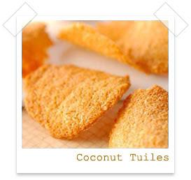 Food Gift Recipes: Coconut tuiles recipe