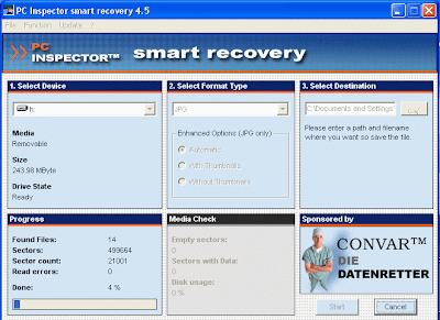 PHOTO RECOVERY PC INSPECTOR