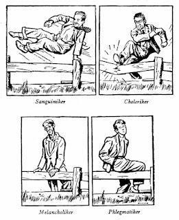 Vier Temperamente nach Friedrich Rückert - Bild