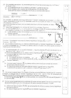devoir physique chimie