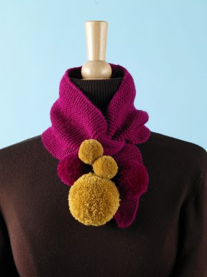 Strings Attached Knitted Keyhole Scarf Lion Brand Free Pattern