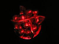 Aluminum Sculpture - top view red filter
